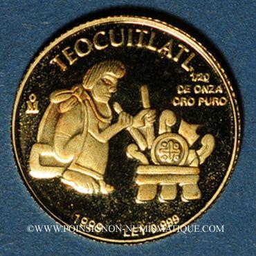 Coins Mexique. République. 1/20 once 1999. (PTL 900‰. 1,57 g)