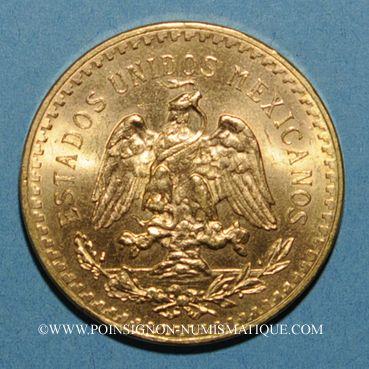 Coins Mexique. République. 50 pesos 1947. (PTL 900‰. 41,67 g)