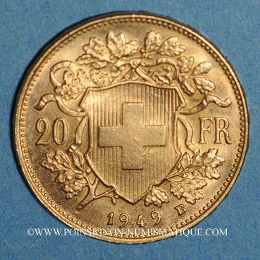 Coins Suisse. Confédération. 20 francs Vreneli 1949 B. (PTL 900‰. 6,45 g)