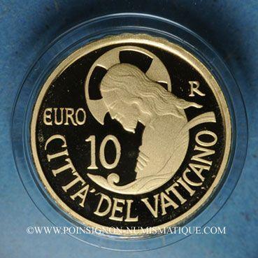 Coins Vatican. François (13 mars 2013 - ). 10 euro 2016. 4e année de Pontificat. (PTL 917‰. 3 g)