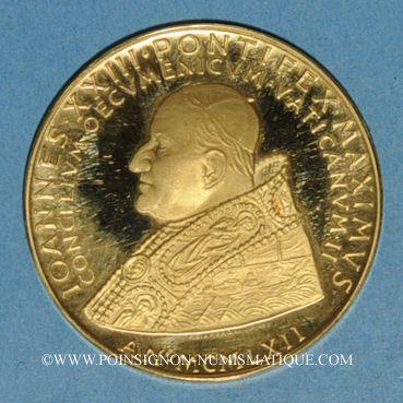 Coins Vatican. Jean XXIII. Concile Vatican II. 1962. Médaille or. 40 mm. 900 /1000. 35 g.