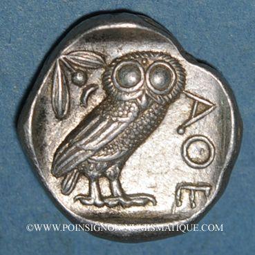 Coins Attique. Athènes. Tétradrachme, vers 403-365  av. J-C