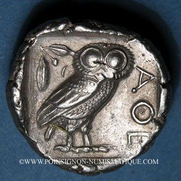 Coins Attique. Athènes (vers 415-407 av. J-C). Tétradrachme