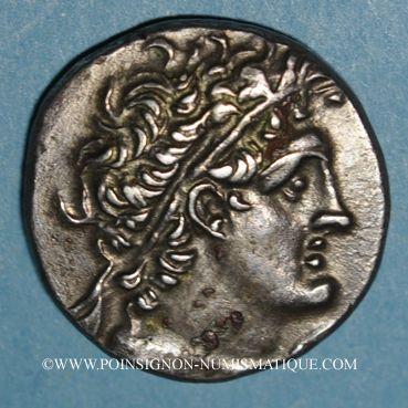 Coins Egypte. Ptolémée XII Néos Dionysos (80-51 av. J-C). Tétradrachme. Alexandrie an 8 (= 74-73 av. J-C)