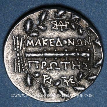 Coins Macédoine sous domination romaine (158-146 av. J-C). Tétradrachme