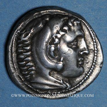 Coins Roy. de Macédoine. Alexandre III le Grand (336-323 av. J-C). Tétradrachme. Amphipolis, 294-290 av JC