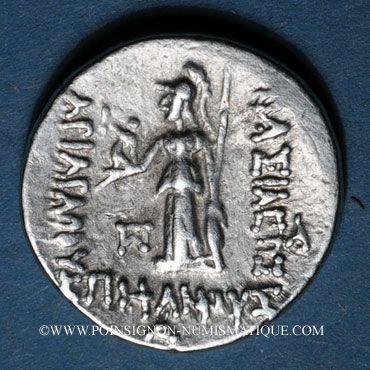 Coins Royaume de Cappadoce. Ariarathes VI Epiphane Philopator (130-115 av. J-C). Drachme, an 4