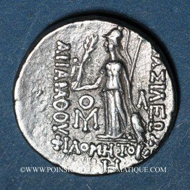 Coins Royaume de Cappadoce. Ariarathes VII Philométor (115-101 av. J-C). Drachme, an 8