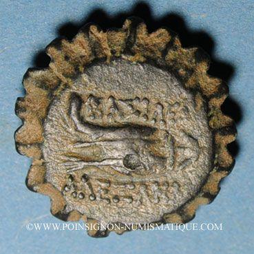 Coins Royaume de Syrie. Alexandre I Balas (152-145 av. J-C). Bronze dentelé . Atelier incertain