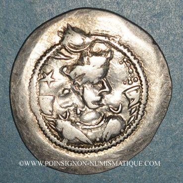 Coins Royaume sassanide. Kavad I, 1er règne (488-496). Drachme type I /1. AS = Ctésiphon