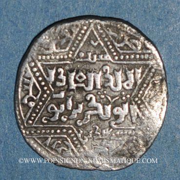 islam Syrie  Ayyoubides  al-'Adil (592-615H)  Ar  Dirham (61)4H, Damas