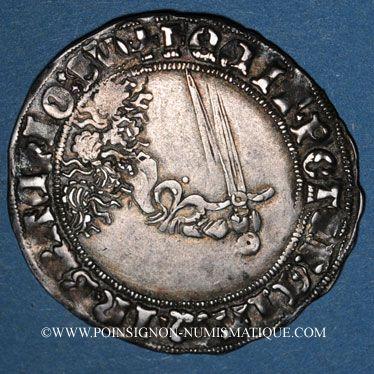 Coins Duché de Lorraine. Antoine (1508-1544). Double gros de trois gros (= plaque). Nancy