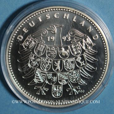 Coins Allemagne. Carl Friedrich Benz (1844-1929). Argent 999 ‰. 40 mm.
