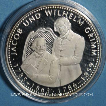 Coins Allemagne. Jacob & Wilhelm Grimm (1785-1863 - 1786-1859). Argent 999 ‰. 40 mm.