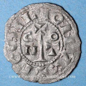 Coins Comté du Roussillon. Gausfred III (1115-1164). Denier