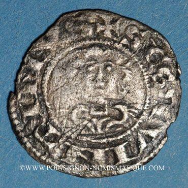 Coins Picardie. Comté de Vermandois. Philippe d'Alsace (1167-1183). Denier