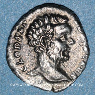 Coins Albin, césar (193-195). Denier. Rome, 194-195(?). R/: Minerve debout à gauche