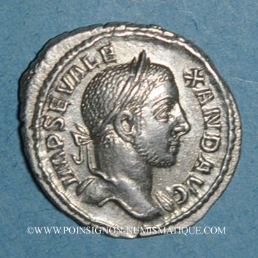 Coins Alexandre Sévère (222-235). Denier. Rome, 228-231. R/: Jupiter