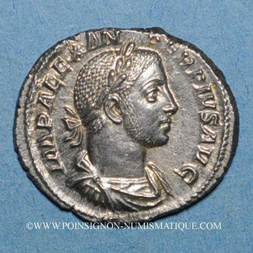 Coins Alexandre Sévère (222-235). Denier. Rome, 231-235. R/: Jupiter
