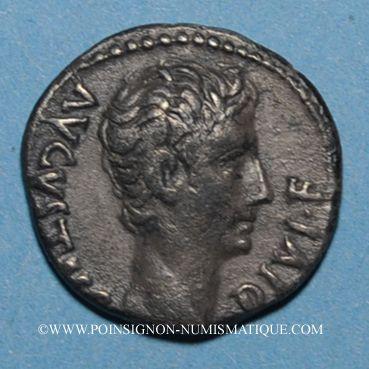 Coins Auguste (27 av. - 14 ap. J-C). Denier. Lyon, 15 av. J-C. R/: taureau