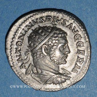 Coins Caracalla (198-217). Antoninien. Rome, 216. R/: le Soleil radié