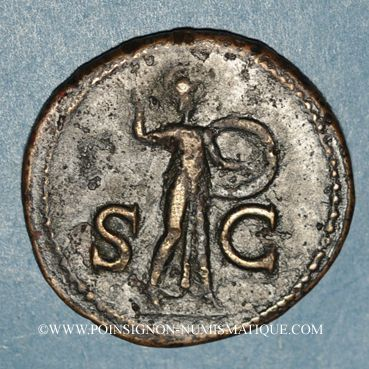 Coins Claude (41-54). As. Rome, 41-42. R/: Minerve