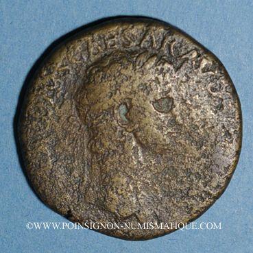 Coins Claude (41-54). Sesterce. Rome, 41-42, contremarqué NCAPR sous Néron