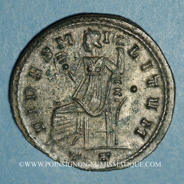 Coins Constance I Chore (305-306). Follis. Ticinum, 3e officine, 305. R/: la Fidélité