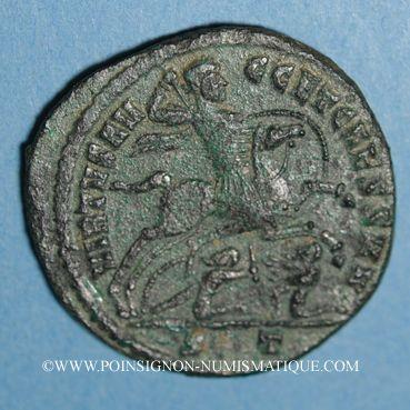 Coins Constantin I, césar (306-307). Follis. Ticinum, 2e officine, 306. R/: Constantin