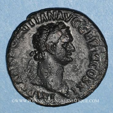 Coins Domitien (81-96). As. Rome, 85. R/: autel