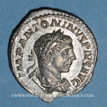 Coins Elagabale (218-222). Denier. Rome, 220-221. R/: la Fortune