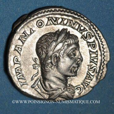Coins Elagabale (218-222). Denier. Rome, 220-221. R/: la Liberté debout à gauche
