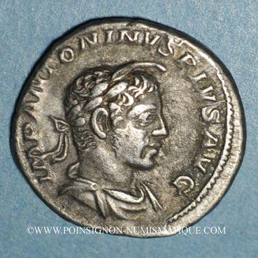 Coins Elagabale (218-222). Denier. Rome, 221-222. R/: Elagabale