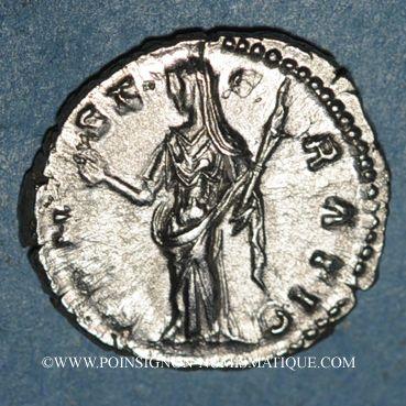 Coins Faustine mère, épouse d'Antonin († 141). Denier. Rome, après 147. R/: Cérès