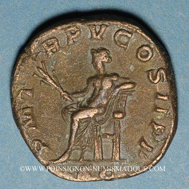 Coins Gordien III le Pieux (238-244). Sesterce. Rome, 242-243. R/: Apollon à demi-nu