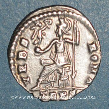Coins Gratien (367-383). Silique. Trèves, 375-378. R/: Rome