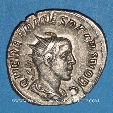 Coins Hérennius Etruscus, césar (250-251). Antoninien. Rome, 251. R/: deux mains jointes