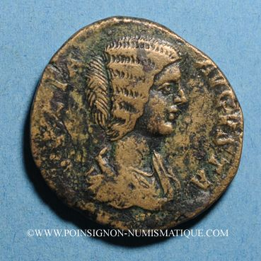 Coins Julia Domna, épouse de Septime Sévère († 217). Sesterce. Rome, 198. R/: Cybèle tourelée