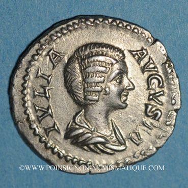 Coins Julia Domna, épouse de Septime Sévère († 217). Sesterce. Rome, 204. R/: la Piété
