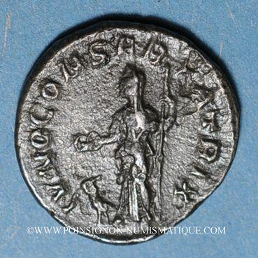 Coins Julia Mamée, mère d'Alexandre Sévère († 235). Denier. Rome, 222. R/: Junon diadémée