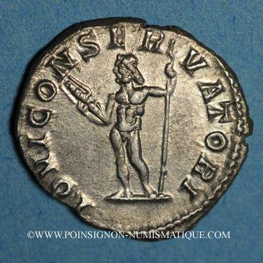 Coins Macrin (217-218). Denier. Rome, 217-218. R/: Jupiter