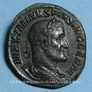 Coins Maximin I Thrax (235-238). Sesterce. Rome, 236-238. R/: la Fidélité