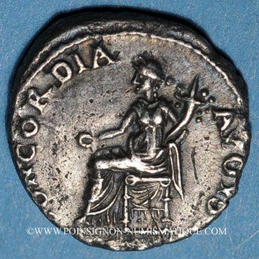 Coins Néron (54-68). Denier. Rome, 64-65. R/: la Concorde assise à gauche