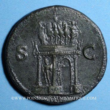 Coins Néron (54-68). Sesterce. Lyon, 66. R/: arc de triomphe
