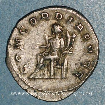 Coins Otacilie, épouse de Philippe I. Antoninien. Rome, 245. R/: la Concorde