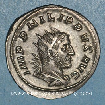Coins Philippe I (244-249). Antoninien. Rome, 247. R/: l'Equité