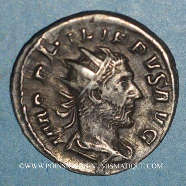 Coins Philippe I (244-249). Antoninien. Rome, 247. R/: légende dans une couronne