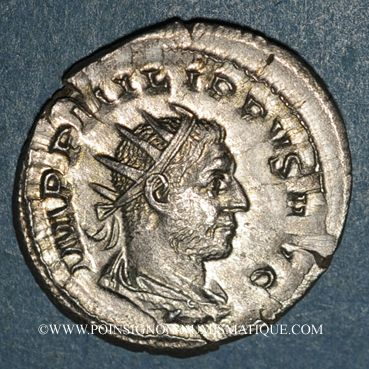 Coins Philippe I (244-249). Antoninien. Rome,  248. R/: cippe