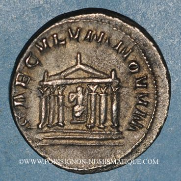 Coins Philippe I (244-249). Antoninien. Rome,  248. R/: temple