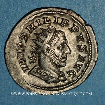 Coins Philippe I (244-249). Antoninien. Rome, 6e officine, 248. R/: antilope